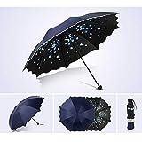 Regenschirm TaschenschirmBlumenschirm Für Frauen Klapp Mode Mädchen Sonnenschirm Sonne Tragbar...