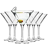 Krosno Martini-Gläser Cocktailgläser | Set von 6 | 150 ML | Elite Kollektion | Perfekt für...