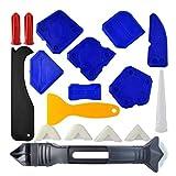 iplusmile 18-teiliges Abdichtungswerkzeug-Set aus Silikon fr Glasschaufel, Spaten, Fugenschaber,...