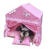 XZPENG Pet faltbare Katzen-Hundehaus, bewegliches Innen weiches Bett for Welpen, Katzen und...