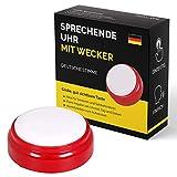Sprechende Uhr mit deutscher Stimme für Senioren, Sehbehinderte, Blinde oder Menschen mit Alzheimer...