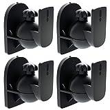 deleyCON 4X Universal Lautsprecher Wandhalterung Halterung Boxen Halter Schwenkbar + Neigbar bis...