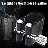 Motto.h Saxophon Leder Ligatur für Alt Saxophon Zubehör Gummi Mundstück Respectable