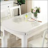 WLF-didina Rechteckiger Abdeckungsschutz, Tischdecke aus transparentem PVC-Kunststoff, geeignet für...