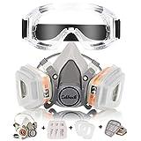 Atemschutzmaske Staubmaske Zelbuck Respirator Hlabmaske Set mit Schutzbrille Gasmaske mit Filter...