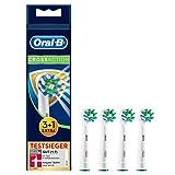 Oral-B CrossAction Aufsteckbürsten mit Bakterienschutz, 3+1Stück