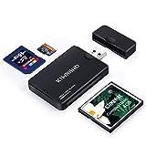KiWiBiRD USB 3.0 (3.1 Gen 1) Super-Speed Kartenleser 9-in-1 für CF (UDMA), SDXC, SD, MMC, RS-MMC,...