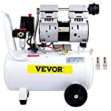 VEVOR Silent Flüsterkompressor 30L Druckluftkompressor 1,1PS/850W Leise Ölfrei Kompressor 115PSI...