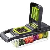 LVSEDE Gemüsehacker Küche Multifunktionale Würfelmaschine Kartoffelschredder Schredder Reibe...