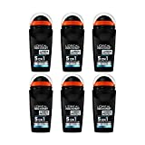 Men Expert L'Oral Carbon Protect Ice Fresh Deodorant fr Herren, 6er pack (6 x 50 ml)