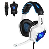 PC Gaming Kopfhörer,Spirit Wolf 7.1 Surround Sound Stereo Stirnband Kopfhörer mit Mikrophon,...
