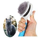 Katzenbürste, Katzenburste Selbstreinigend Zupfbürste Entfernt Unterwolle Hundebürste...