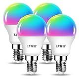LVWIT E14 Wlan LED Lampe RGB, 5W ersetzt 40W, 470lm, WiFi Smart Birne G45, kompatibel mit Alexa,...