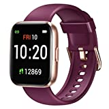 Letsfit Smartwatch, Fitnessuhr mit Schrittzähler, Fitness Tracker IP68 Wasserdicht Sportuhr Smart...