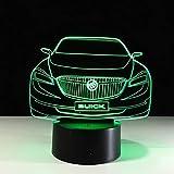 LIkaxyd LED 3D Nachtlicht, optische Tuschungslampe 7 Farbwechsel, Touch USB & batteriebetriebenes...