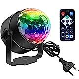 Discokugel, Disco Lights LED Party Lampe Musikgesteuert Disco Lichteffekte DJ Party lichter 360°...