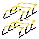 Ultrasport Koordinationshrden, 6er Set, verstellbare Trainingshrden fr Fuball, Hundesport und mehr,...