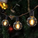 Lichterkette außen,VIFLYKOO LED Lichterkette Glühbirnen Aussen 9.5M 25er Birnen 3 Ersatzbirnen...