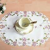 Untersetzer Moderne Spitze Satin Tischset Kaffee Stickerei Tisch Tischset Tischset Tasse Tee...