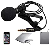 Jecarden Mikrofon Karaoke Mikrofon 3,5mm Jack Tragbar Microphone Lavalier Mikrofon Stereo Stereo...