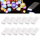 12 Pack Papierlaternen Lichter, YUNLIGHTS wasserdicht batteriebetrieben led Papierlaternen Lichter -...