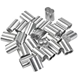 25 Stk Profi Seilklemme 8mm Würgeklemmen aus Aluminium, Pressklemme, Aluminium-Crimpschlaufe...