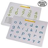 Hoonee 2 in 1 Magnet Reißbrett Alphabet Letter Tracing Board Pädagogische Buchstaben Lesen...