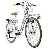 KS Cycling Cityfahrrad 28' Swan weiß mit Frontgepäckträger