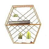 N/A ECSWP Kreative Leisten Golden Hexagon Wandspeicher Anzeige Dekoration Rack Room Rack Leben