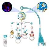 Heylas Musik-Mobile Krippe mit Fernbedienung Spielzeug Bett hängen Spielzeug mit Projektor und...