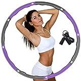 DUTISON Fitness Erwachsene Reifen Hoop zur Gewichtsreduktion,Hoop mit Schaumstoff Gewichten...