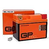 GP-PRO 12V GEL 5Ah GEL Motorrad-Batterie, Roller-Batterie GTX5L-BS, wartungsfrei versiegelt...