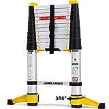 Lionladder EN131-6 3,8M Professionelle Teleskopleiter mit Stabilisator, Aluminium Mehrzweckleiter...
