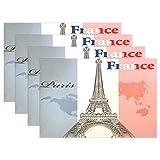 Promini Hitzebeständige Platzdeckchen Frankreich Eiffelturm waschbar Polyester Tischmatten...