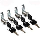 4 Stück Briefkastenschloss Möbelschlösser Zylinderschloss Zylinder Cam Lock Schrankschloss...
