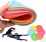 Puzzlos 6 Stück Frisbee für kleine Hunde Hundefrisbee ,Silikon Hundefrisbee Bissfest Interaktive...