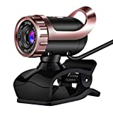 HD-Webkamera 480P USB 2. 0 Webcam Clip-On-Kamera Eingebautes Mikrofon Kamera fr Computer-PC-Laptop...