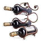 Weinregal - Hlt bis zu 4 Flaschen Standardgre - Stapelbares Aufsatzregal aus Edelstahl -weinregal 4...