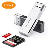 Honmax SD Kartenleser, 2 Pakete Micro SD Adapter USB 3.0 Speicherkartenleser 5Gpbs High Speed für...