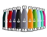 BaomayVakuum Isolierte Edelstahl Trinkflasche - 350ml/500ml/750ml - Ideale Thermosflasche fr Kinder,...