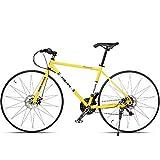 BNMKL Adult City Fahrrad, 21 Gang-Schaltung Jungenfahrrad Mit Scheibenbremse, Aluminiumrahmen 700C...