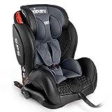 KIDUKU Kindersitz Autokindersitz mit ISOFIX | Kinderautositz aus ECO-Leder | Autositz mitwachsend |...
