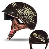 Vintage Helm Unisex Leichter Halbhelm Sommer Persönlichkeit Harley Helm M 8