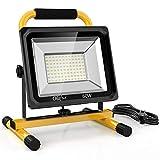 Olafus 60W 6000LM LED Baustrahler, 2 Helligkeitsmodi IP65 Wasserdicht LED Arbeitsleuchte...