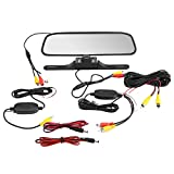 Ymiko 4,3-Zoll-Monitor Wireless IR-Auto Rückfahrumkehr-Rückfahrkamera-Kit...