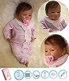 ZIYIUI 20-22 Zoll Reborn Babypuppe Realistisch 55 cm Neugeborene Reborn Silikon Weichkörper...