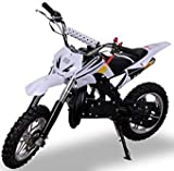 Kinder Mini Crossbike Delta 49 cc 2-takt Dirt Bike Dirtbike Pocket Cross (Weiß)