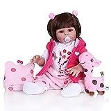 TTWLJJ Simulation Baby Mädchen Puppe Reborn Baby Doll Realistische Weiche Funktionspuppe Frühe...