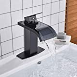 Wasserhahn,waschtischmischer Wasserhahn, Schwarz Bronze Mit Glaswaschbecken Wasserhahn, Badarmaturen...