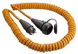as - Schwabe 70415 Schutzkontakt-Spiralkabel, 5m H07BQ-F 3G2,5, orange, IP44 Gewerbe, Baustelle